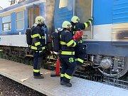 Ve Všetatech hořela lokomotiva.
