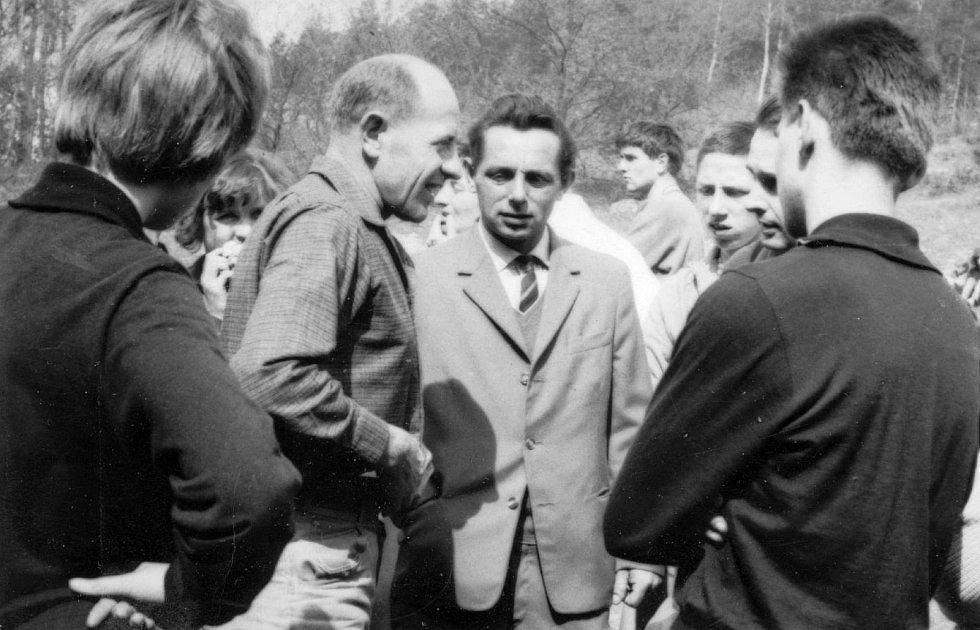 Emil Zátopek v Houštce.