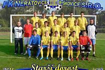 PŮLMISTŘI. Starší dorost FK Neratovice/Byškovice je v krajském přeboru po podzimní části na prvním místě.
