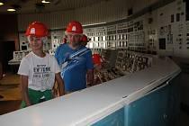 Elektrárna Mělník v Horních Počaplech se na celou sobotu otevřela všem návštěvníkům.