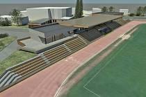 Vizualizace plánované rekonstrukce stadionu v Neratovicích
