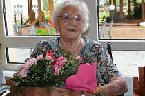 Oslava stých narozenin Růženy Šulcové.