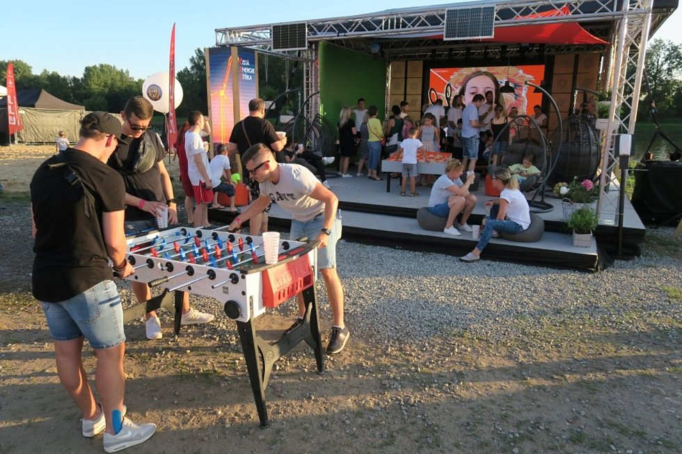Nejen Oranžové kolo, ale i stolní fotbal a další zajímavé deskové hry nabízela Energy zóna.