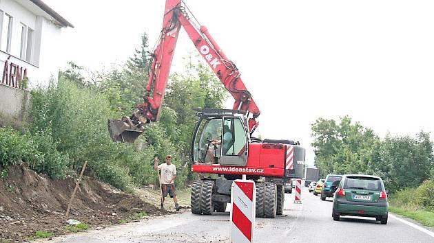 Stavba vodovodu ve Klích zastavila provoz
