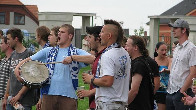 Ze sobotního utkání Cítov - Kaučuk