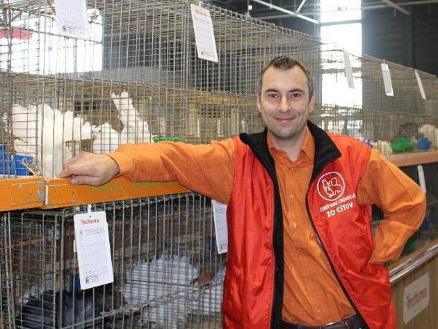 Svá zvířata představil na francouzské výstavě i David Rameš z Cítova.