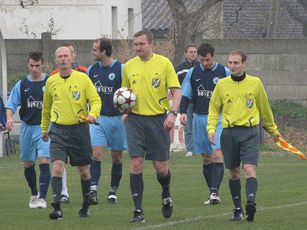 Ligový rozhodčí Milan Matějček.
