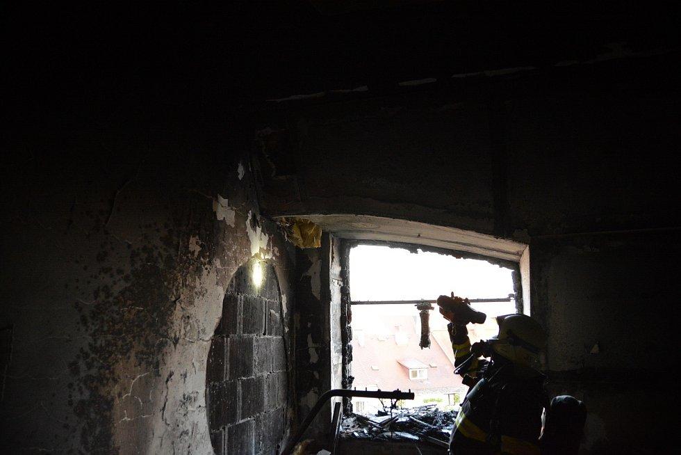 Požár domova seniorů ve Mšeně