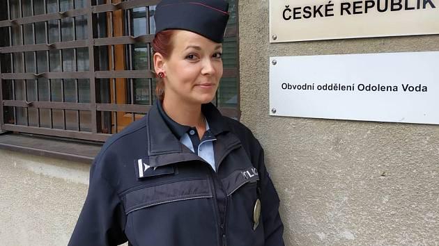 Policistka Ludmila Dorňáková.