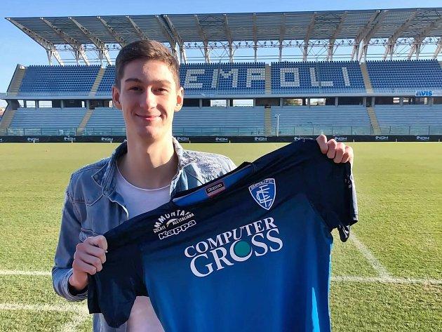Tomáš Čvančara sdresem Empoli FC, kam odešel zJablonce na půlroční hostování.