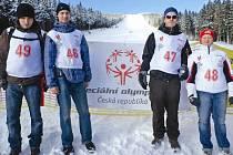 Sportovní klub Pojďte dál z Neratovic reprezentovali (zleva) Filip Sedláček, Ondra Kabeš, Jirka Kružík a Evička Procházková.