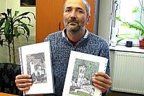 VÝTVARNÍK Michal Lauda by chtěl jít ve šlépějích  Augustina Sedláčka, který navštívil spoustu hradů a zámků, o  nichž napsal. Mělnický umělec se je však snaží nakreslit.