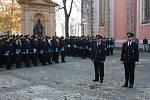 Slavnostní slib nových policistů.