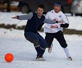 Z utkání Tuchoraz - Sadská (1:2) na zimním turnaji v Kostelci n. Č. l.