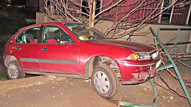 Takhle dopadlo auto viníka nehody.