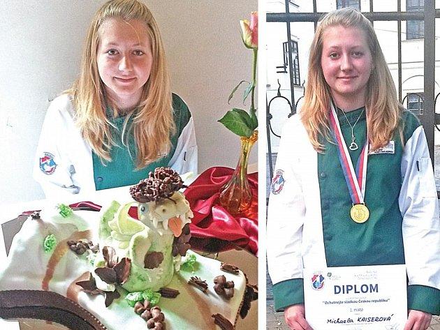 Ze soutěže v pražské Troji si Michaela Kaiserová za svůj dort odvezla první místo.