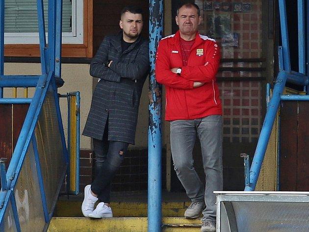 Pravou rukou Vladimíra Kaňky (vlevo) je manažer áčka Václav Marhan.