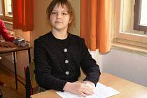 Kateřina Černohorská ze Staré Boleslavi pár minut před zahájením přijímacích zkoušek.