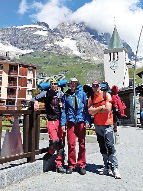 Na Matterhorn vyšli zitalské Cervinie.