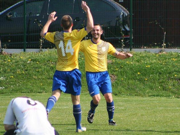 Hořínský ostrostřelec Richard Polanský si na podzim zopakoval gólovou oslavu hned dvanáctkrát.
