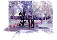 TAKTO by měla socha Jana Palacha zasahovat do parku Jugmannovy sady.