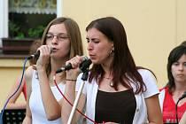 Koncert skupiny Minerva na mělnickém radničním dvoře