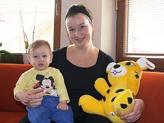 Katarína Turnová se svým synem Michalem.
