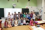 Žáci 1. třídy ZŠ Obříství paní učitelky Irmy Fendrichové