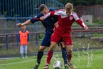 FK Neratovice/Byškovice - Sokol Brozany (v červeném); 4. kolo divize B; 31. srpna 2014