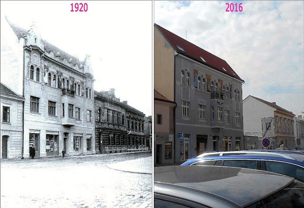 Kdysi ulice Terschova, dnes Palackého.
