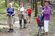 Nordic walking výlet.