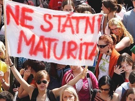 ilustrační foto z protestu v Praze.