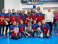V loňském roce se díky třetímu místu na Národním festivalu basketbalistky kvalifikovaly do žákovské ligy pro letošní sezonu.