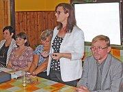 Úvodní projev pronesla nová ředitelka kralupské střední školy Dagmar Binková.
