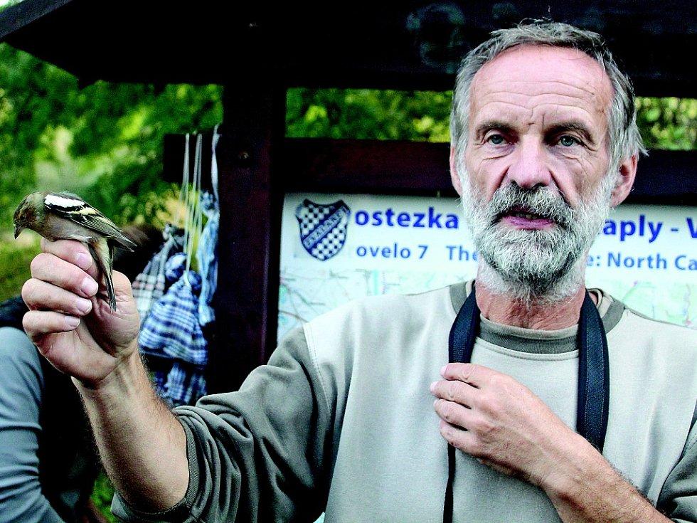 Ornitologická vycházka s Liborem Prausem a Petrem Lumpem.