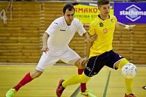 Era-Pack Chrudim (v bílém) - SK Olympik Mělník; přípravné utkání na 1. ligu; 5. září 2014