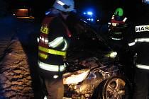 Osobní vozidlo přišlo při nehodě o dvě kola