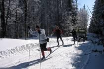 Běžkaři na Hornovsacké magistrále