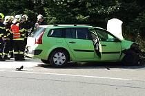 K nehodě ve Vsetíně došlo 7. srpna 2017 na frekventovaném místě u benzinky Shell. Auto částečně bránilo v plynulém provozu.