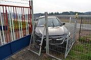 Nehoda osobního vozu Subaru v Jablůnce v neděli 14. dubna 2019