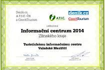 Turistické informační centrum Valašské Meziříčí bylo vyhodnoceno jako nejlepší ve Zlínském kraji.