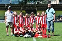 Jaroslav Jakubkovič (první zleva) kromě hráčské kariéry v minulých letech trénoval mládežnické výběry fotbalového Vsetína, kde nakonec skončil.