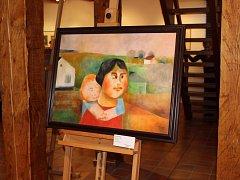 Sobotní vernisáž zahájila výstavu děl Oty Janečka.