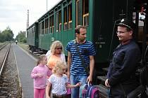 Jízda historického vlaku na trati Valašské Meziříčí - Rožnov; sobota 12. srpna 2017