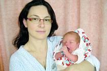 Pavla Jakešová, Valašské Meziříčí, syn Jakub Žejdlík, hmotnost: 3,40 kg, narozen: 13. 5. ve Valašském Meziříčí