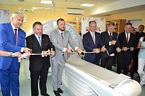 Slavnostní uvedení nového moderního počítačového tomografu (CT) do provozu v Nemocnici ve Valašském Meziříčí; říjen 2019