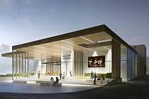 Vítězný návrh podoby plánovaného kulturního centra v Rožnově pod Radhoštěm z ateliéru Archteam z Brna.