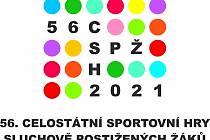 Oficiální logo 56. celostátních sportovních her sluchově postižených žáků, které se ve dnech 23. až 26. června ve Valašském Meziříčí.