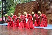 Hlavní program 49. ročníku Mezinárodního folklorního festivalu Liptálské slavnosti v přírodním kulturním areálu v Liptále; sobota 25. srpna 2018.