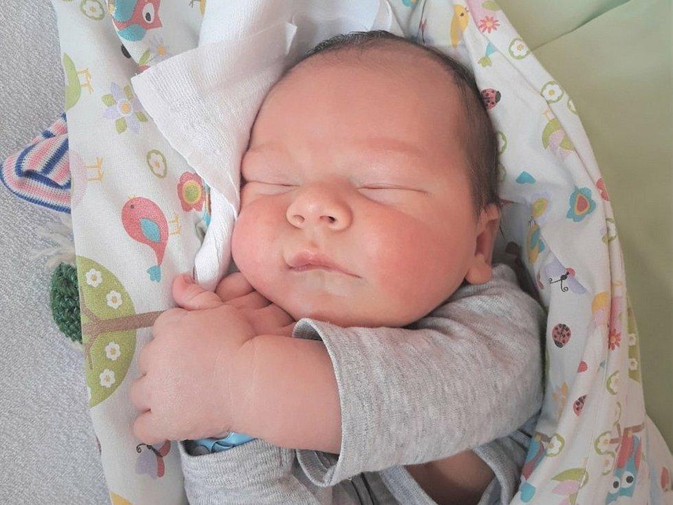 Jan Labanc, Hranice, narozen 30. dubna 2021 ve Valašském Meziříčí, míra 52 cm, váha 4200 g